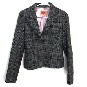 Juicy Couture Size S Plaid Houndstooth Blazer